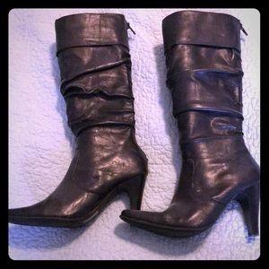 ALDO size 5M/35 black leather boots.